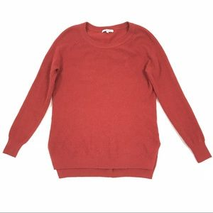 Madewell blood orange knit pullover sweater